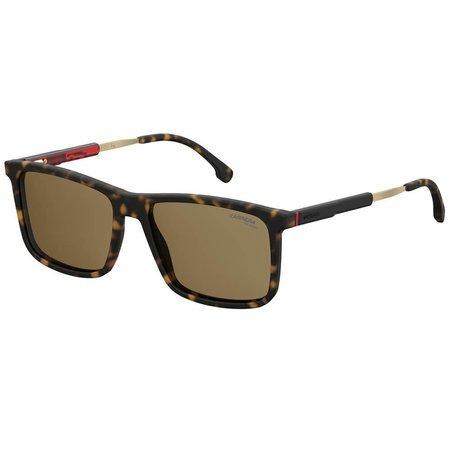 Carrera męskie okulary przeciwsłoneczne prostokątne, w kolorze szylkretowym
