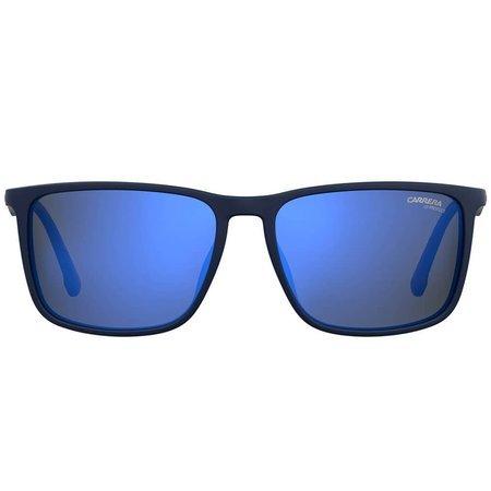 Carrera prostokątne okulary przeciwsłoneczne męskie, granatowe, w sportowym stylu