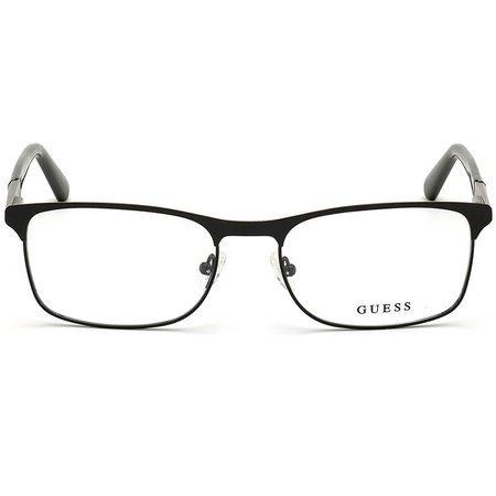Guess klasyczne męskie metalowe okulary z czarnym frontem GU 1981 002 (55)