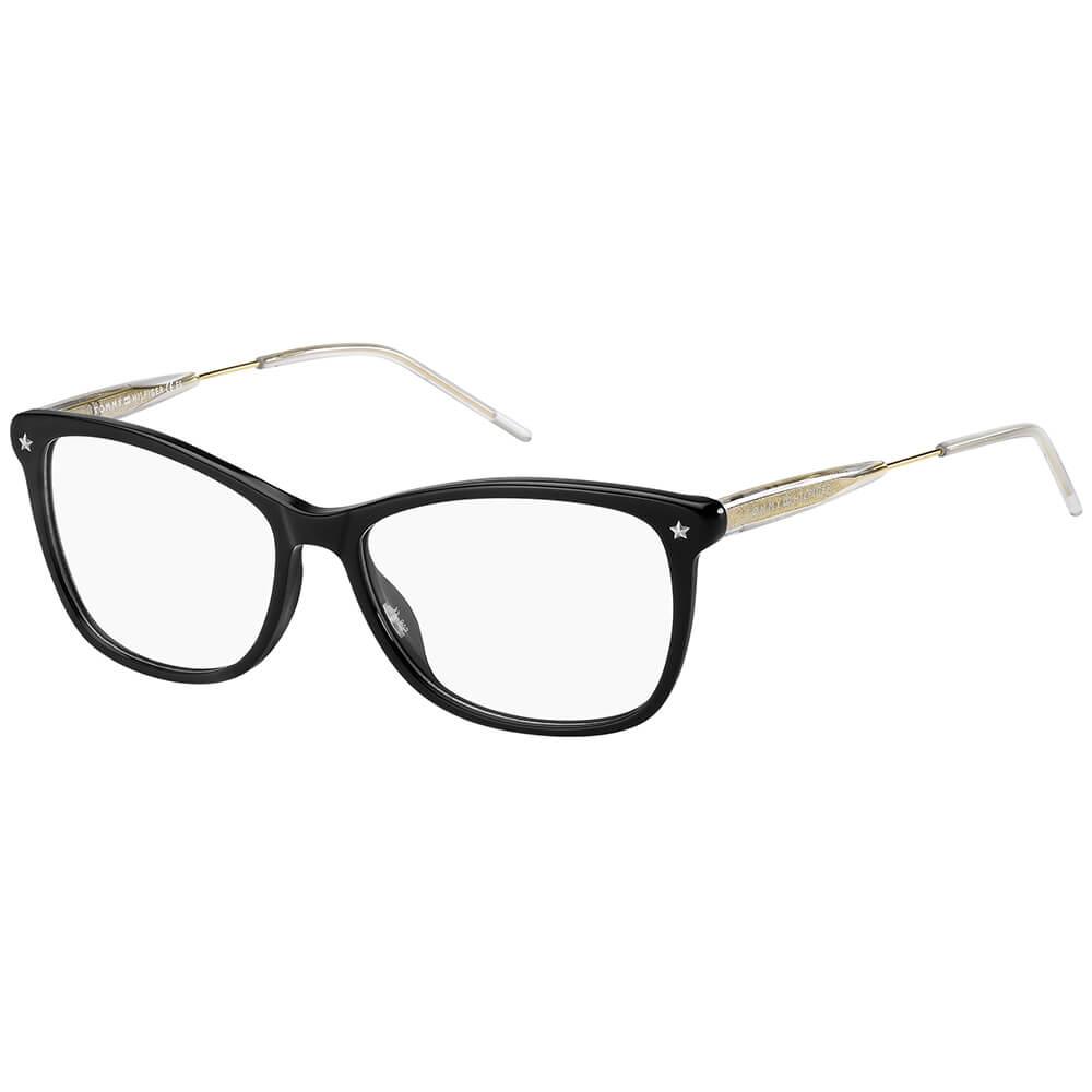 Tommy Hilfiger czarne damskie okulary z lekkiego tworzywa TH 1633 807