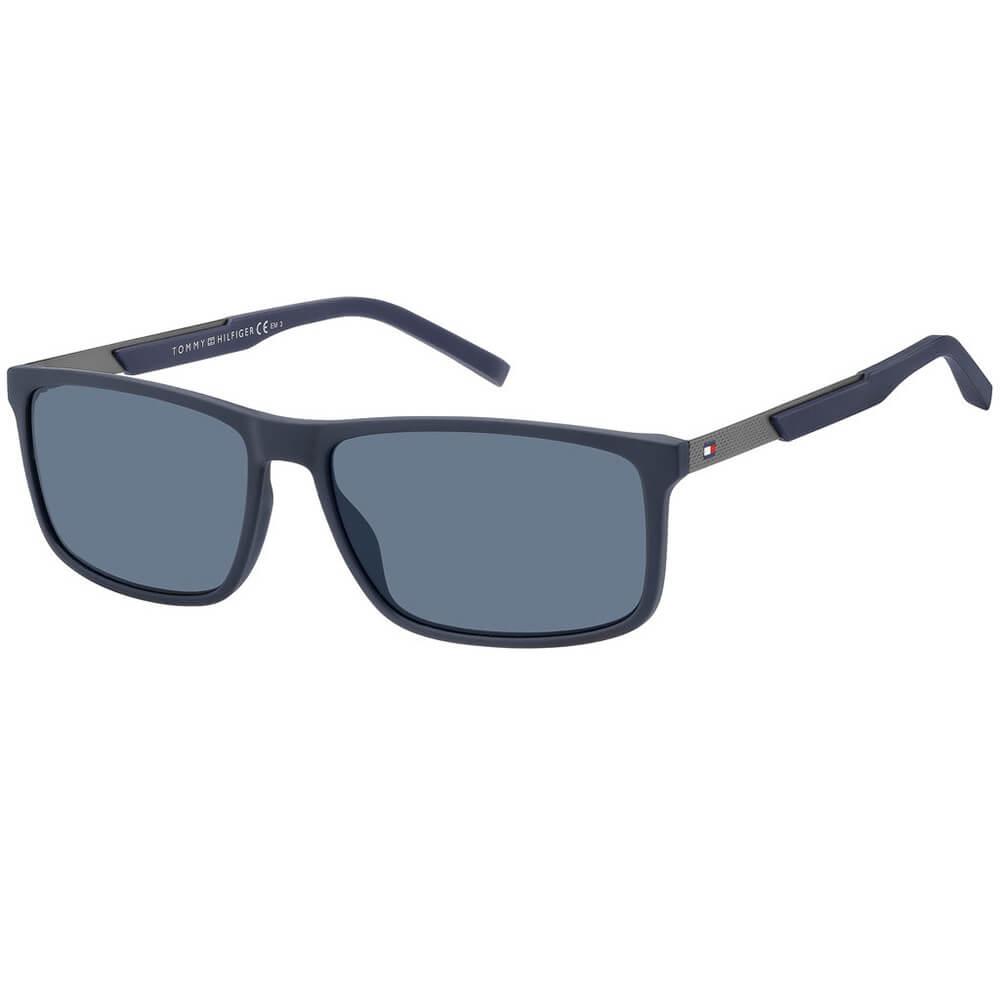 Tommy Hilfiger granatowe okulary przeciwsłoneczne męskie TH 1675/S IPQ/KU