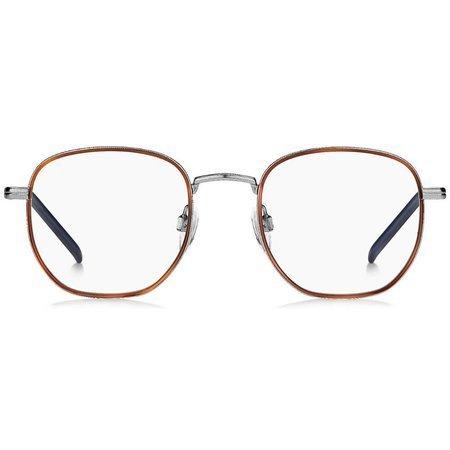 Tommy Hilfiger kwadratowe okulary kolor brąz i granat TH 1686 R81