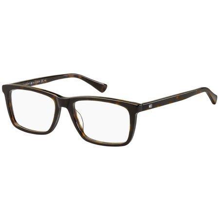 Tommy Hilfiger szylkretowe brązowe okulary z acetatu TH 1527 086